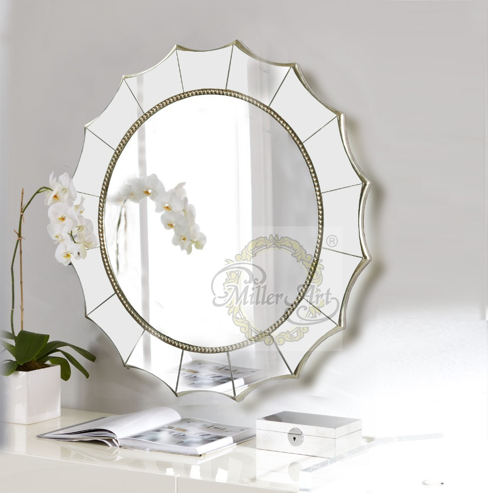 Foshan Manufacturer Of Ready Made PU Frames Wholesale Bathroom Mirrors