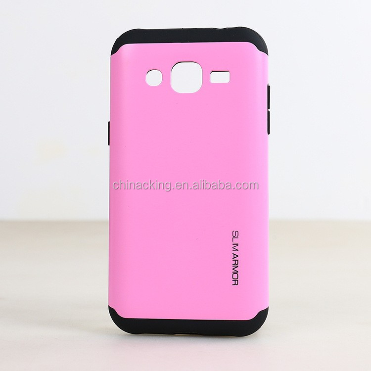 2 in 1 TPU with PC Armor Back Cover Case For Samsung Galaxy J2