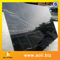Polished Big Slab Black Marble