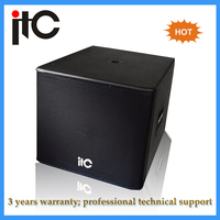 Professional dual 18 inch subwoofer speaker sound box audio system