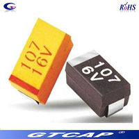 smd tantalum capacitor 10uf 25v thermal capacitor