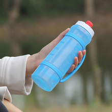 121th Canton Fair New BPA-FREE Silicone and plastic Sports Drinking Bottles with push-pull spout