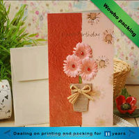 Whole sale custom made paper greeting cards