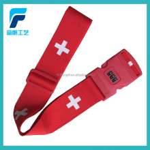 Promotional Custom Made Detach Buckle and Combination Lock luggage bag belt travel luggage belt