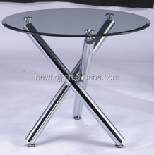 Three Leg Tempered Glass Top Dining Table,Modern Dining Table