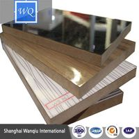 Furniture Grade painted design uv mdf with wood grain standard size board (4*8ft)