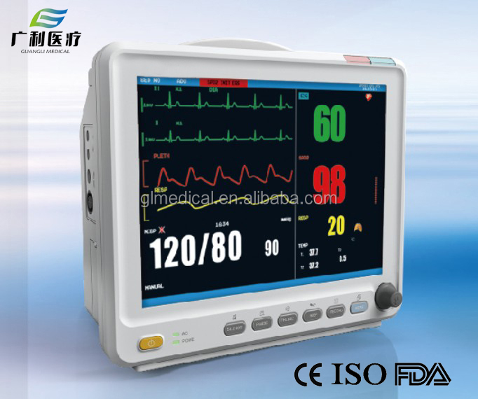 Super Stable Portabe multi-parameter patient monitor with Lithium Battery