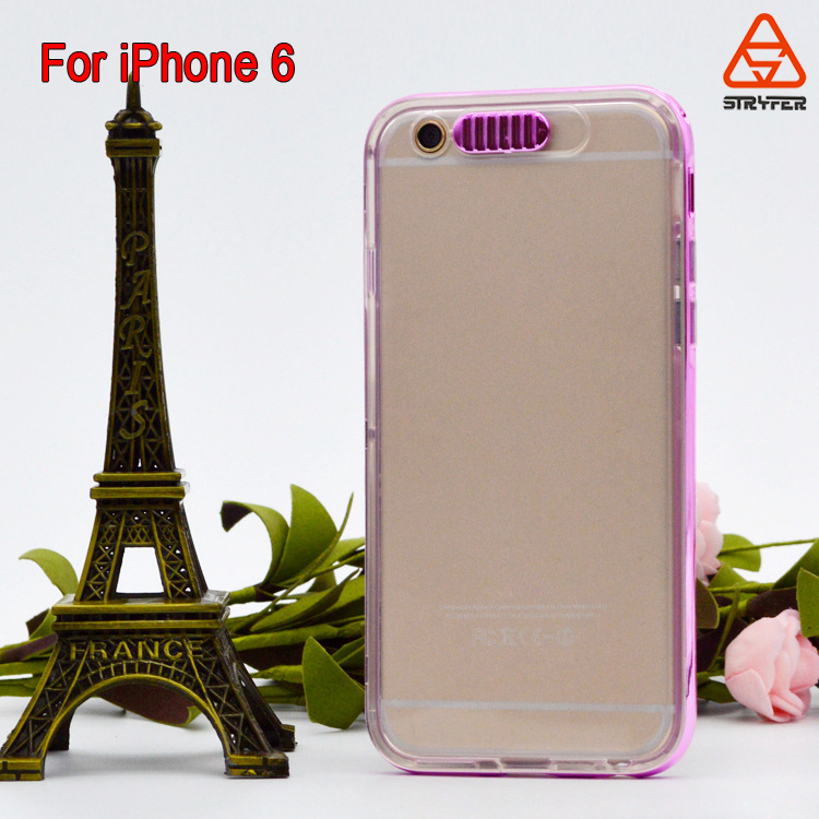 Hight welcome tpu back cover +electroplate pc bumper 2 in 1 for iphone 6 ,mobile phone bag for iphone 6