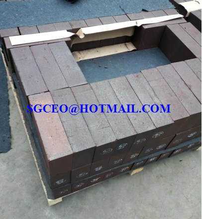 magnesia alumina spinel curved refractory fire bricks