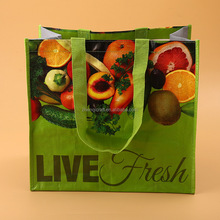 pp woven full version printing environmental protection laminating shopping bag