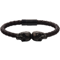 Special Design North Skull Knot Bio Magnetic Leather Bracelet