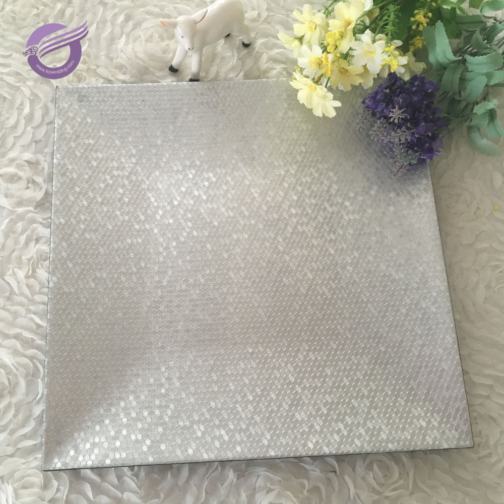 16934 wedding wholesale square cheap silver plastic disposable charger plates