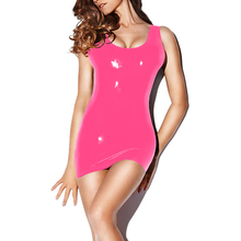 Hot Club Sex Masquerade Party Latex Fetish Clothing Sweet Pink Woman Costume Sexy Latex Underwear