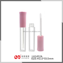 slim cylinder cosmetic plastic empty lip gloss packaging tube container for young girl