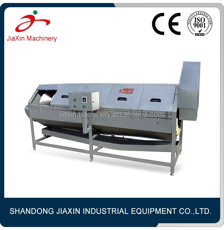 Automatic rhizome cleaning peeling machine