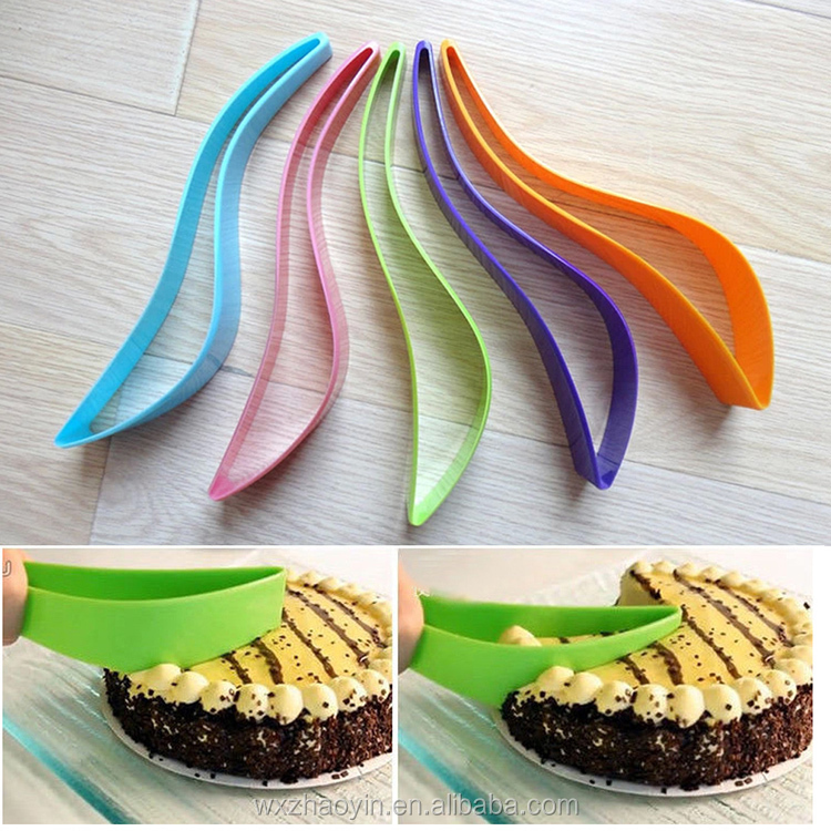 Factory Price Food Grade Plastic Cake Server Knife Cutter