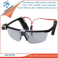 Worldwide First SV-AT20 FULL HD Sunglasses Wifi Medical & Action Camcorder compact design