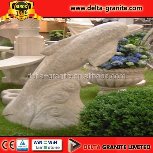 Modern Garden Stone Carving And Sculpture&Dolphin sculpture