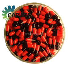 1000 Empty Gel Gelatin Capsules Size 2 Colored Red Black