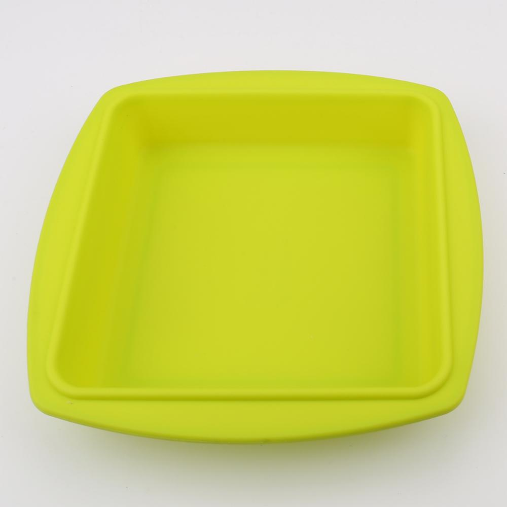 cool Easily-Used Kitchen Bakeware Folding Silicone Cake Mold for baking