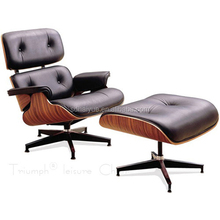Exquisite Wooden Button Tufted Lounge Chair with Ottoman HY2112