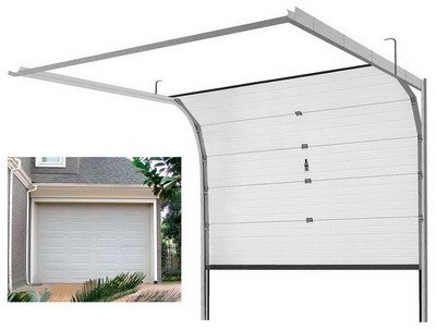 Finger protection wood grain panels double track automctic 9x8 garage door sale