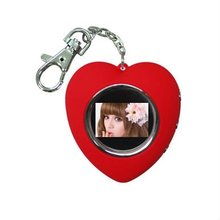 Promotional gifts heart style 1.5 Inch mini Digital Photo Frame key chain, LCD CSTN digital picture album keychain keyring