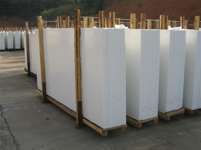 White Marmoglass NanoGlass Nano Crystallized Glass Slabs