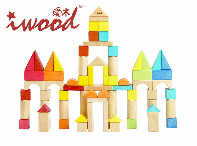 Wooden Blocks Baby Memory Big 72PCS Toys DIY High-end Blocks Factory creative toy