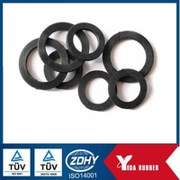 Dalian Factory Clear Silicone Flat O Ring,Black NBR Rubber Gasket