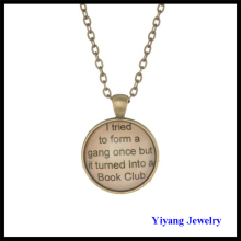 Custom Letters Pendant Antique Bronze Necklace