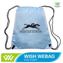 Durable 210D Polyester Biodegradable custom drawstring bags