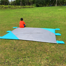 Hot Selling Blue Patchwork Beach Blanket,CZX-193 Color block Picnic Blanket,Sand-Proof with Extra Large Pocket