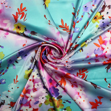 2017 garment fabric digital print printed silk fabric digital printing processing