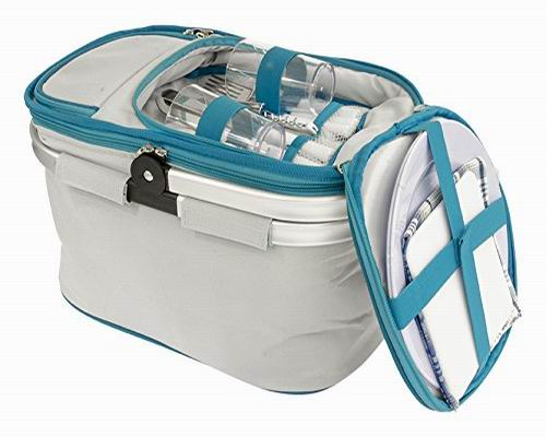 Fashion Collapsible Insulated Picnic Basket set for 2 person