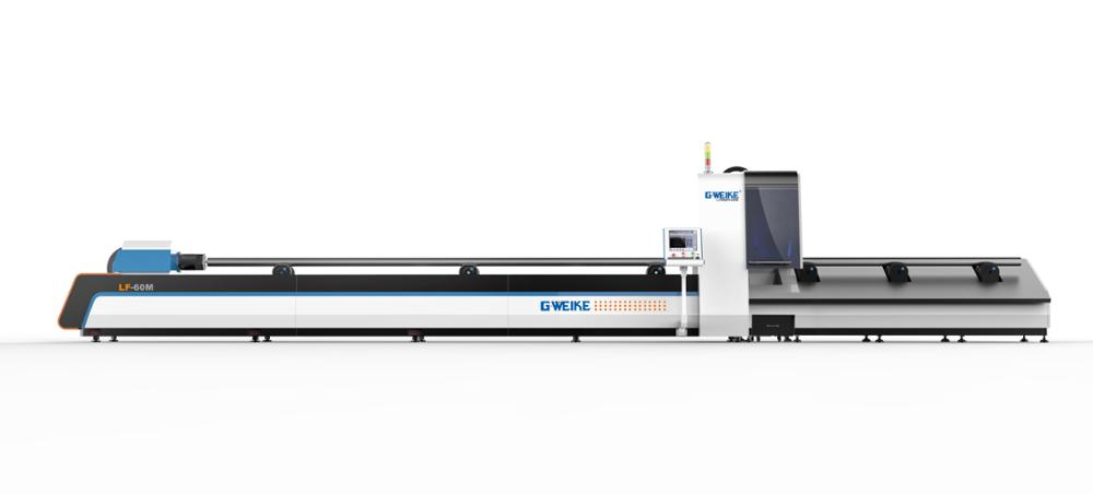 LF60M manual /automatic stainless metal steel tube pipe fiber laser cutting machine
