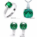 Wholesale Order Designs Spinel Green Charm Sets Jewelry DR031947S-G