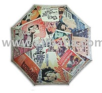 old movie poster painting long size automatic umbrella