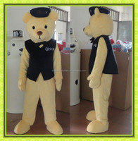 Good visual teddy bear mascot adult teddy bear mascot for party