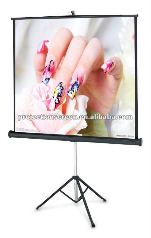 stable 80inch tripod projection screen