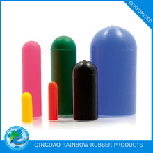 Custom molded various color silicone rubber end caps