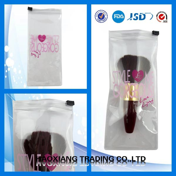 BOPP OPP plastic bag for makeup brush, makeup brush packaging bag