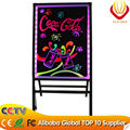 A Stand LED writing board 50*70cm with tempered glass panel for outdoor advertising with cheapest price