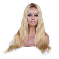 blonde swiss lace wig with dark roots