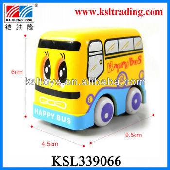 newest lovely happy cartoon mini bus friction toy