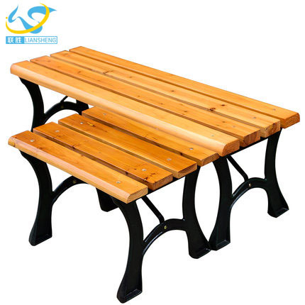 Wholesale high quality plastic cast iron park bench legs slats