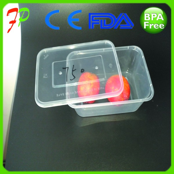 Clear Transparent Plastic Lunch Box Color Customized Food Storage Containers