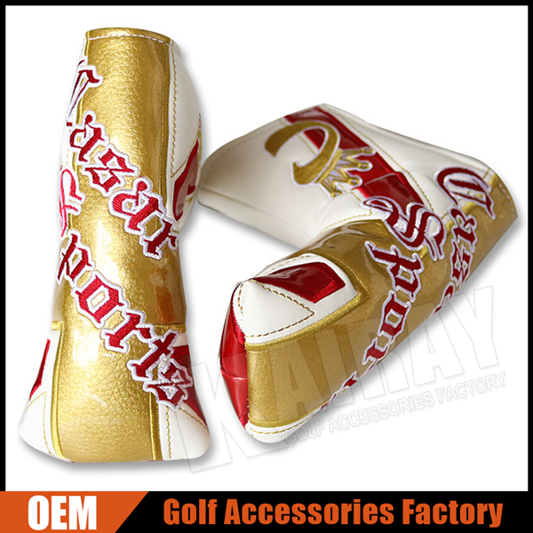 Custom Unique Leather Golf Blade Putter Head Covers