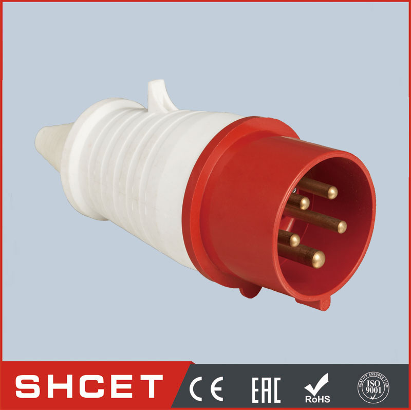CET-015L 16A/32A industrial socket 16 amps pc plug socket coupling