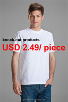 Cheapest plain men t shirt made of 100% cotton, round neck men blank t shirt in promotion, 100% percent cotton t shirts